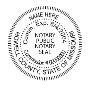 Mississippi Notary Stamps Missouri